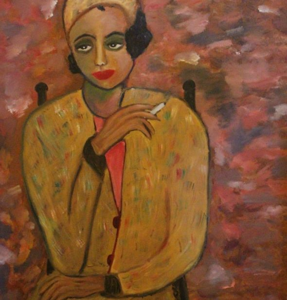 WOMAN WITH A CIGARETTE